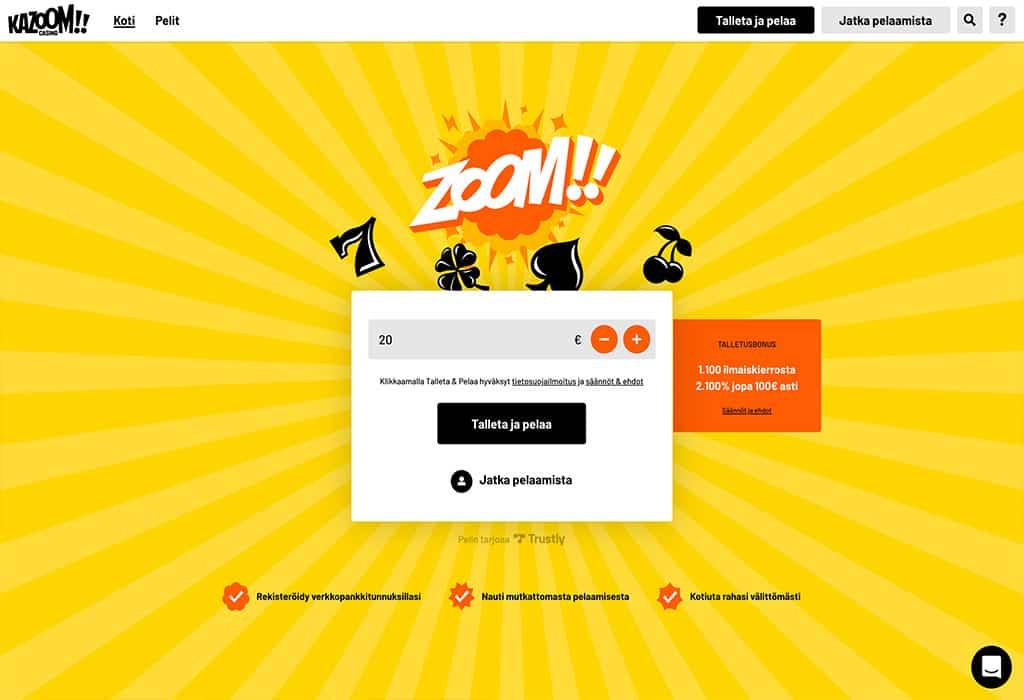 Kazoom Casino: Asiantuntijan kokemuksia ja arvostelu