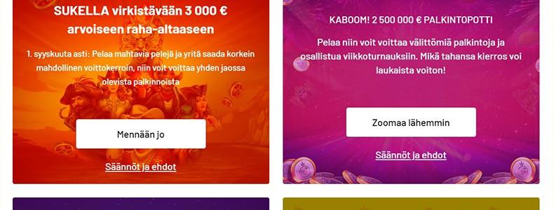 Kazoom Casinon tarjouksia