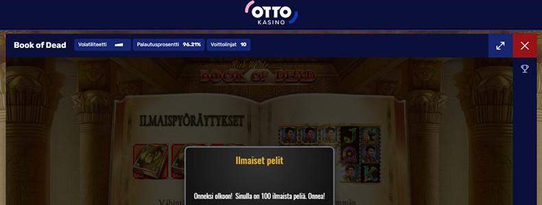 Otto Kasino ilmaiskierrokset
