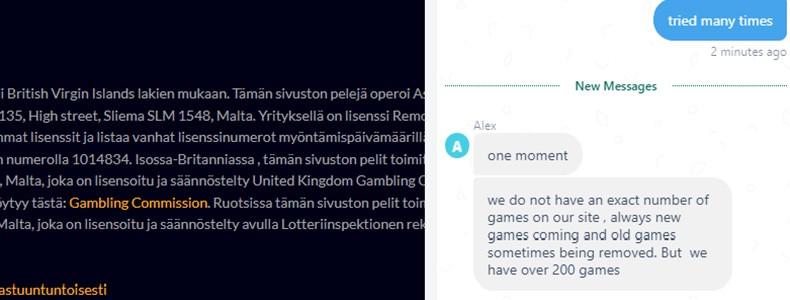 PlayLuck Casino pelien määrä