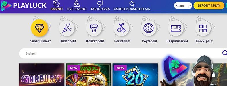 PlayLuck Casino pelivalikoima